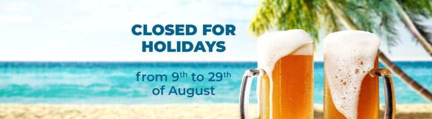 Closed for holidays